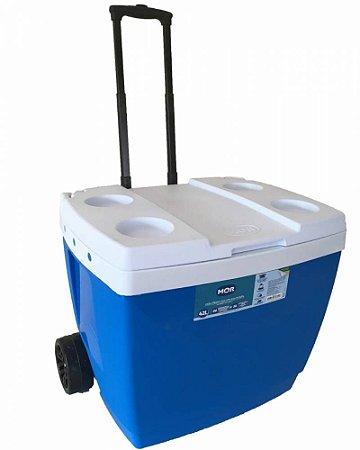 Caixa Térmica 42L Com Rodinha  Azul - MOR