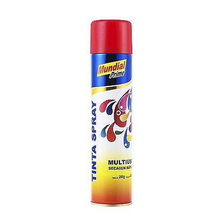 Tinta Spray 200ml Uso Geral Vermelho - MUNDIAL PRIME
