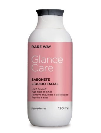 Glance Care Sabonete Liquido Facial 120ml Rare Way