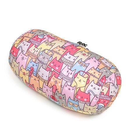 Almofada Estampa Colorida de Gatos