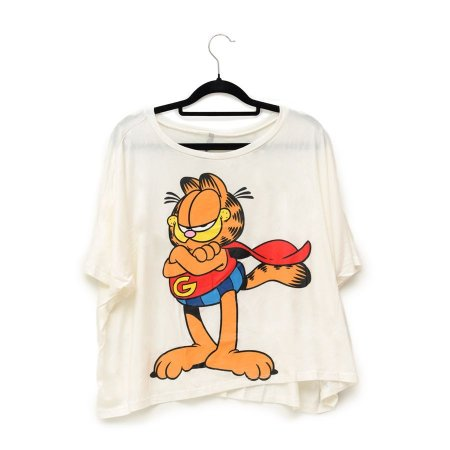 Camiseta Branca Super Garfield