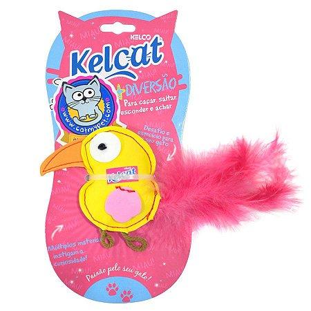 Brinquedo Para Gatos Kelcat Pássaro Pluma com Catnip