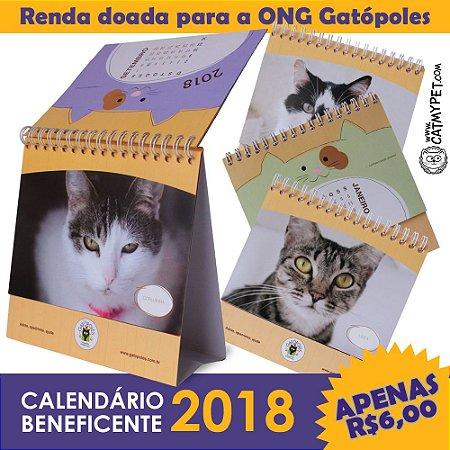 Calendário 2018 Beneficente ONG Gatópoles