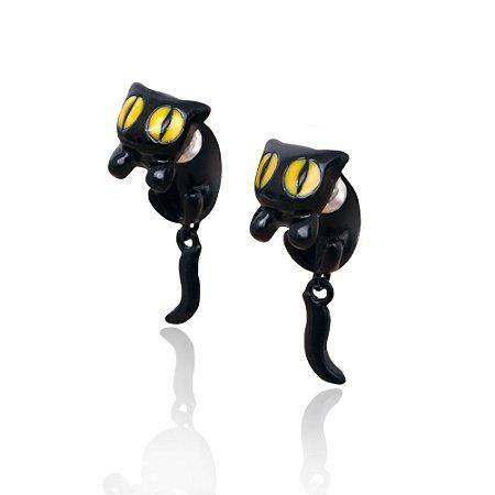 Brinco Gato com Olho Amarelo 3d