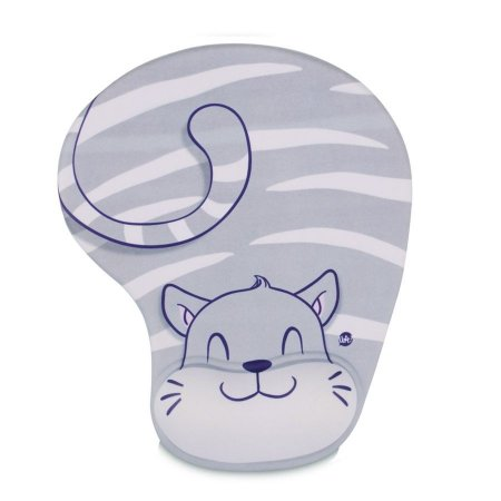 Mouse Pad Cinza Gato Fofo