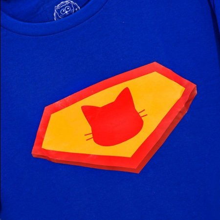 Camiseta Azul SuperCat