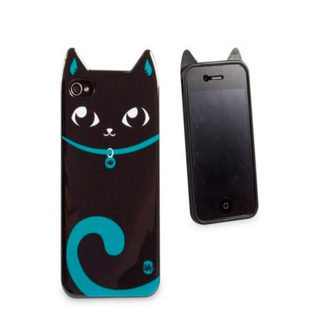 Capa Para Celular iPhone 4-4S Gato Preto