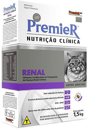 Ração Gatos Premier - Nutrição Clínica Renal