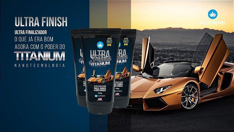 Ultra Finish Titanium Lançamento Produto Revitalizador de plásticos, painéis, pneus e borrachas - Alta Performance