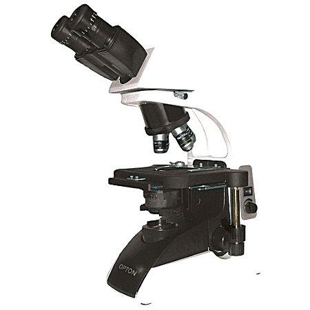 Microscópio Biológico Binocular 40x até 1.000x Objetiva Planacromática Infinita Opton