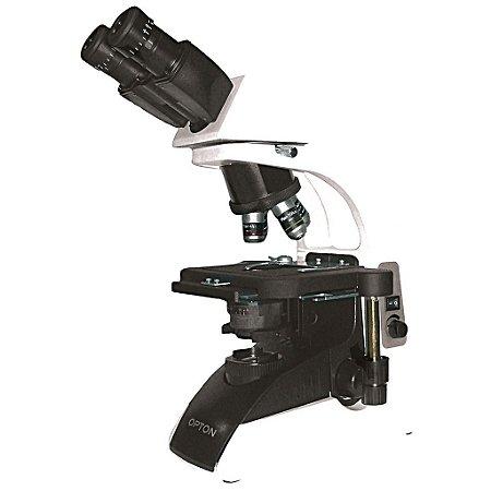 Microscópio Biológico Binocular 40x até 1.000x Objetiva Planacromática Infinita e LED