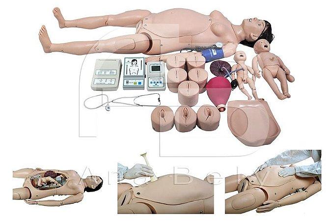 Simulador de Parto Avançado Automático c/ Módulo de Simulação de Emergência a Parturiente e ao Bebê