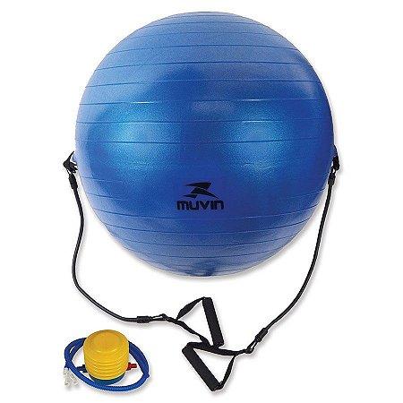 Bola de Ginastica com Extensores 65cm
