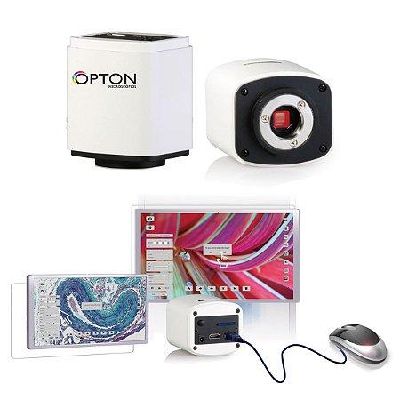 Câmera full hD para microscopio com saída HDMI, USB e CARTÃO SD