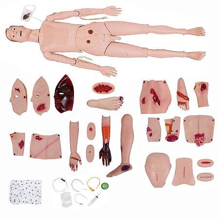 Manequim Bissexual de Enfermagem para Trauma com Simulador de Trismo