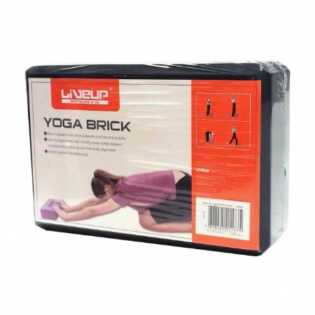Bloco de Yoga - 22,8x15,2x7,6cm - Cor Preta