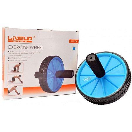 Roda de Exercicio Azul - Liveup