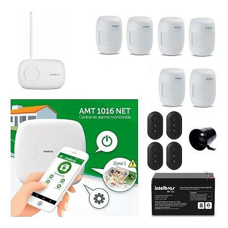 ( Já Instalado)Kit Alarme Central Amt 1016net Aplicativo  Inbtelbras