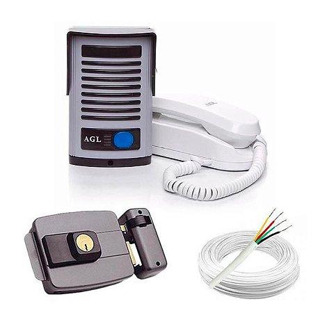 ( Já Instalado)Kit Interfone AGL +Fechadura (não esta incluso serviço de serralheiro)