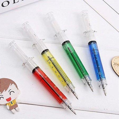 Kit 4 canetas seringa