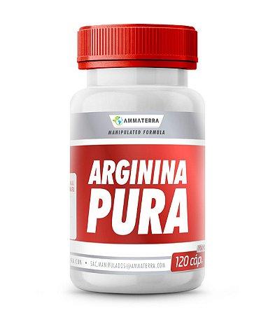 Arginina Pura 120 Cápsulas 1000mg,  (melhora da cicatrização, da estimulação do sistema imune e do desempenho muscular)