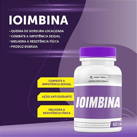 Ioimbina  60 Cápsulas 10mg (QUEIMA DE GORDURA LOCALIZADA, COMBATE A IMPOTÊNCIA SEXUAL, MELHORA A RESISTÊNCIA FÍSICA, PRODUZ ENERGIA E MUITO MAIS.)