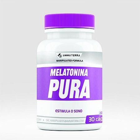 Melatonina Pura 10mg 30 Cápsulas ( tratar a enxaqueca, combater tumores , mais frequentemente insônia.)