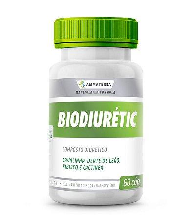 Composto Diurético Biodiurétic 60 Cápsulas ( pressão alta, insuficiência cardíaca e inchaços nos tornozelos, pés e pernas, causados por alterações no funcionamento do coração ou doenças no fígado ou rins)