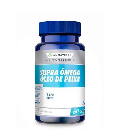 Supra Ômega Óleo De Peixe 60 Cápsulas 18 EPA  12 DHA, (O Supra Ômega óleo de peixe é um produto rico em ômega-3, um ácido graxo polinsaturado tendo como principais constituintes)