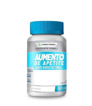 Suplemento Para Aumento De Apetite  60 Cápsulas, (Aumenta o apetite e a vontade de se alimentar, prevenindo assim a desnutrição e perda de peso inesperado e ajuda a engordar de forma natural e saudável)