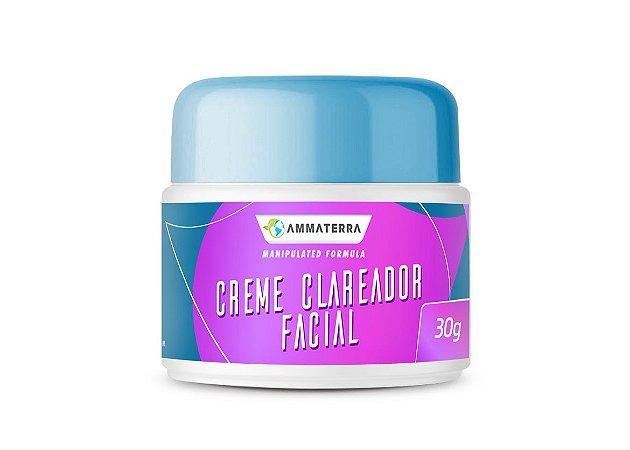 Creme Clareador Facial 30gr (Clareamento de manchas causada pelo sol, melasma, manchas escuras, sardas, manchas provocadas por anticoncepcional, sua formula contém ativos que hidrata a pele mantendo-a macia saudável)