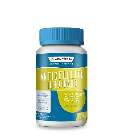 Anticelulite Turbinado 30 Cápsulas, (Melhora a circulação sanguínea; Age eliminando as toxicas presentes em nosso organismo; Atua na síntese da proteína formadora do tecido conjuntivo; Estimula a formação de colágeno)