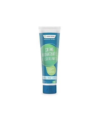 Creme Hidratante E Esfoliante 120gr (remover as células mortas promovendo uma limpeza e hidratação da pele. Com óleo de amêndoas doce, semente de uva, microesfera e glicerina, possui um aroma agradável e e deixa uma sensação deliciosa na pele com toque)