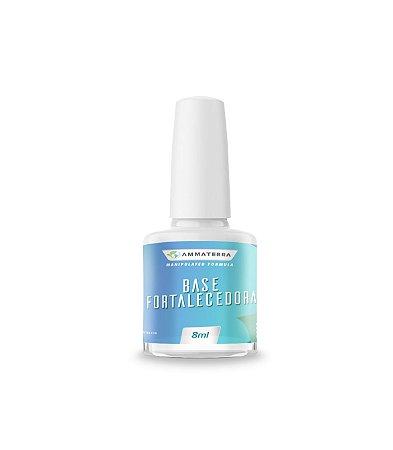 Base Fortalecedora 8ml (A solução para unhas fracas, quebradiças e com dificuldade de crescimento! Possui fórmula exclusiva que repõe os nutrientes essenciais para as unhas, fortalecendo, eliminando escamações e estimulando seu crescimento saudável )