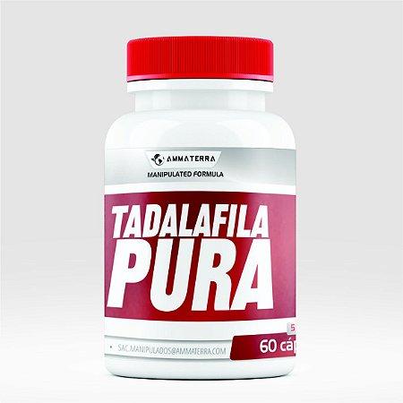 Tadalafila Pura 5mg  60 Cápsulas (Melhora o fluxo sanguíneo peniano, garantindo uma ereção satisfatória durante o ato sexual. É indicado em casos de hiperplasia prostática, problemas na bexiga e outros)