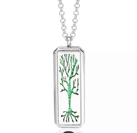 Novo Quadrado Aroma Medalhão Colar Magnético Aço Inoxidável Aromaterapia Difusor De Óleo Essencial Perfume Medalhão Pingente Jóias