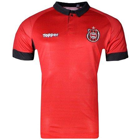 Camisa Brasil de Pelota Jogo I Sem Patrocínio 2017 Topper Masculina