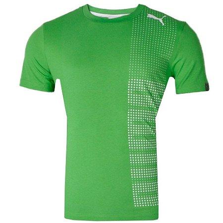 Camisa Casual Tech Graphc Tee Verde Classic Puma Masculina