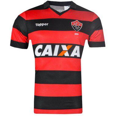 Camisa Vitória Jogo I 2017 Topper Juvenil  9f9918956079b