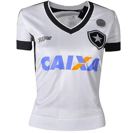 Camisa Botafogo Jogo III C Patrocinio 2017 Topper Feminina