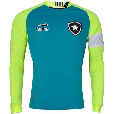 1dc38df141 Camisa Botafogo Goleiro Jefferson Manga Longa 2016 Topper Juvenil ...