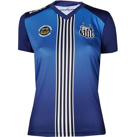 Camisa Santos III Torcedor 2016 Kappa Feminina 8d78e7dd037a1