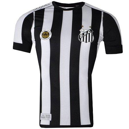 Camisa Santos Jogo II Official Plus Size 2017 Kappa Masculina