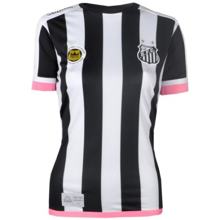 Camisa Santos Jogo II Torcedor 2017 Kappa Feminina  471e48b0a5e24