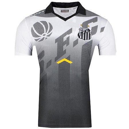Camisa Pólo Santos Viagem Comissão Técnica 2017 Kappa Masculina ... 8851453e278de