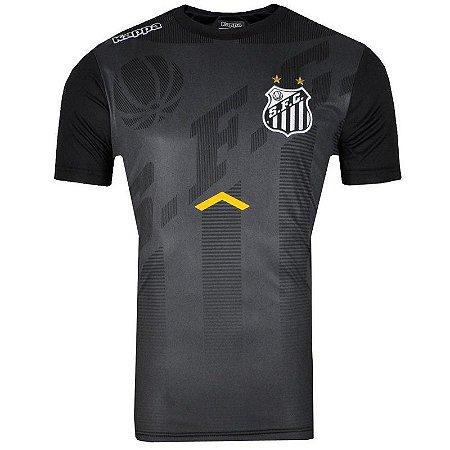 Camisa Santos Concentração 2017 Kappa Masculina - TuttiSports - De ... 5633ec9ffcf5d