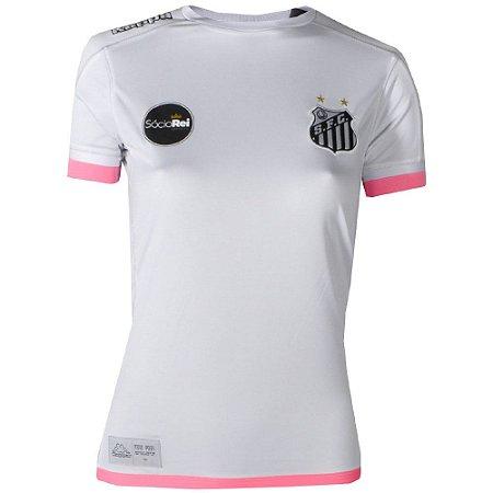 Camisa Santos Jogo I Torcedor 2017 Kappa Feminina