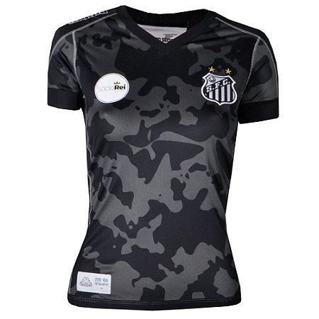 Camisa Santos Jogo III Official 2017 Kappa Feminina  1c88293bf21b9
