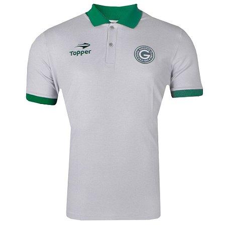 Camisa Goiás Pólo Viagem Atleta 2017 Topper Masculina