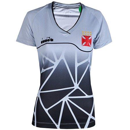 Camisa Vasco Treino Comissão Técnica 2018 Diadora Feminina ... 31d5006b72d88